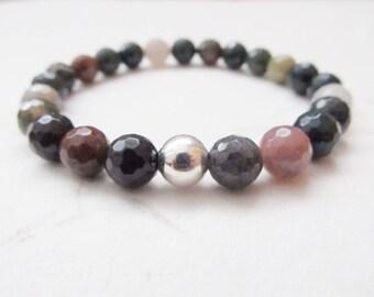 Indian agate bracelet, yoga bracelet, agate bracelet