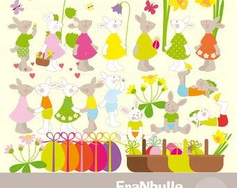 Clipart lapin Pâques, décor Pâques, lapins de Pâques, décorations Pâques, Easter clipart, Pâques clipart, lapin clip art, ornement Pâques