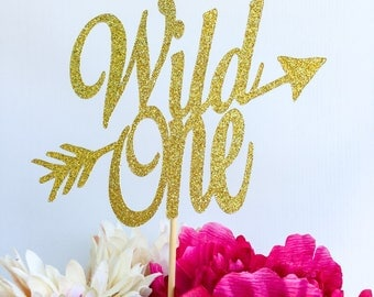 Wild one cake topper | Boho chic cake topper | Bohemian chic | Wild one party | First birthday cake topper | One cake topper