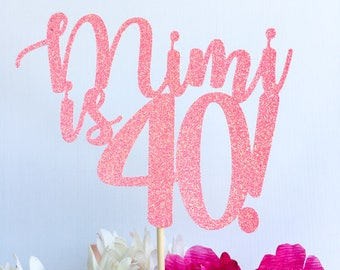 40 and fabulous | 40th birthday | Forty cake topper | 40 | Birthday cake topper | Number cake topper | 30 cake topper | 30th cake topper