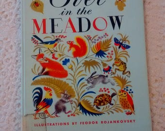 Over in the Meadow by John Langstaff With pictures by Feodor Rojankovsky 1957 Hardcover