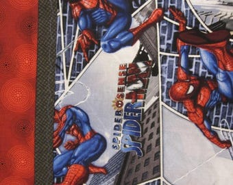 Spiderman pillowcase,  Marvel pillowcase, Super Hero Pillowcase