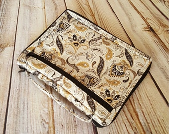 Paisley Zippered Bible Cover