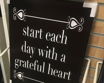 Grateful Heart Sign- Pallet Wood Sign
