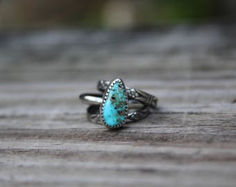 SALE - Natural Royston Turquoise Stacking Set // Size 6.5