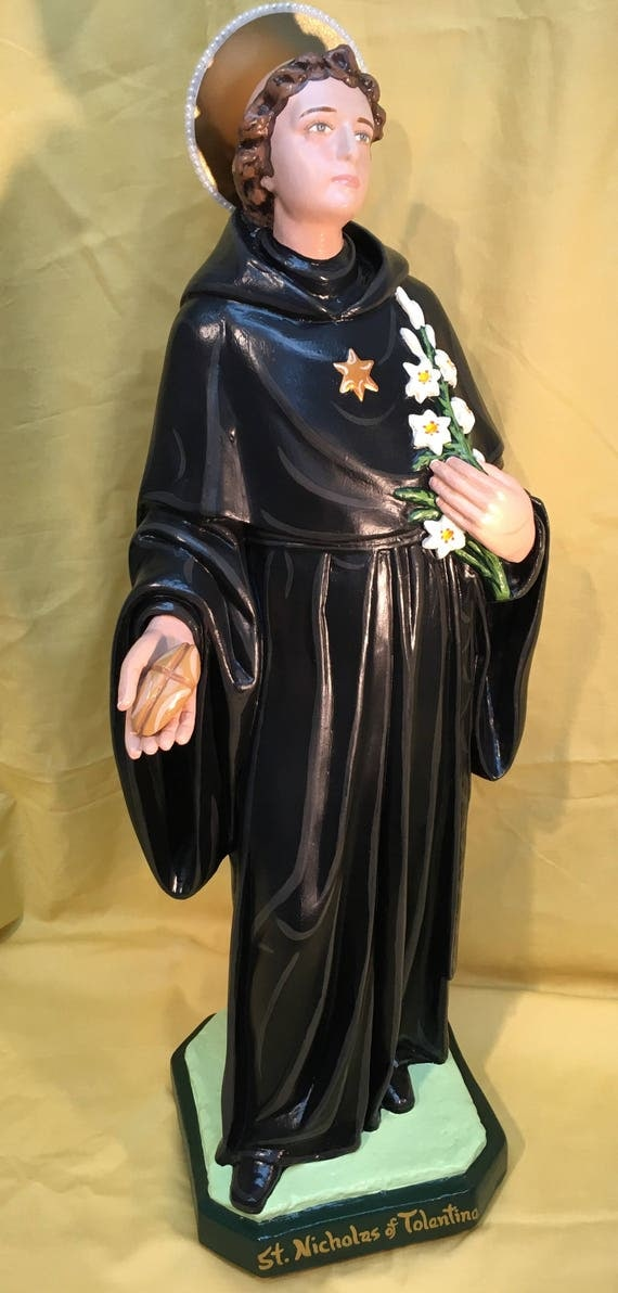 """St. Nicholas of Tolentine 26"""" Pray to him for your deceased loved ones."""