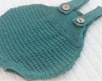 Duckthread Romper Knit Pattern for 0ne Month to 12 Months.PDF Download.
