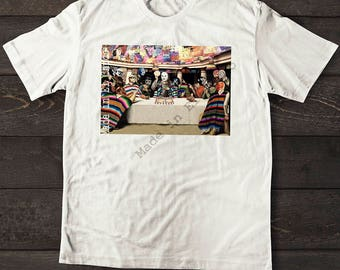 """Lucha Libre T-Shirt """"The Last Supper with Tortillas"""" Mexican Wrestling"""