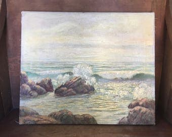 Jan Blechert California Seascape Plein Air Landscape Painting 20th century