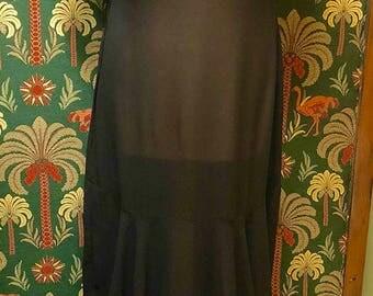 30s black evening dress