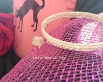 Wedding / gift cuff white highlights