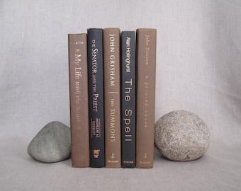Black and Brown Decorative Book Set, Book Bundle, Home Staging, Wedding Centerpiece, Farmhouse Books