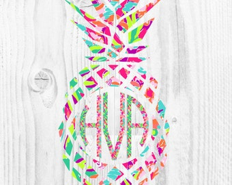 Pineapple Decal - Pineapple - Lilly - Yeti Decal -  Car Decal