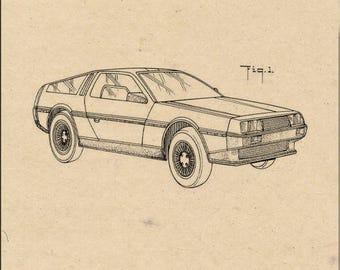 Delorean Automobile Patent #283882 dated May 20, 1986.