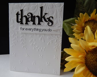 Thanks for everything you do - Thank You Card with Envelope