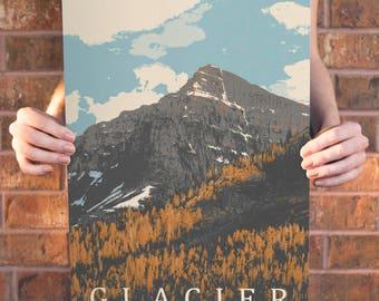 Glacier National Park Poster 11x17 18x24