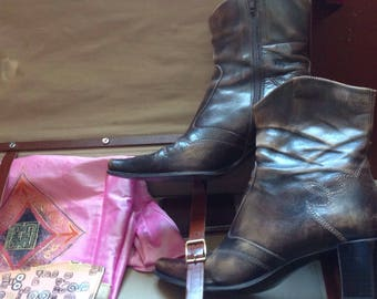 Cow Girl/Booties shoes / Hand Made in Italy/BAMA