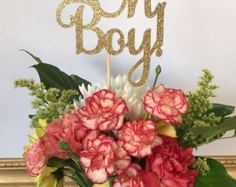 Oh Boy Centerpiece sticks, Baby Boy Table Decorations, Baby Shower Centerpiece, Baby Centerpieces, Oh Boy Decor, Baby Boy Shower (Set of 3)