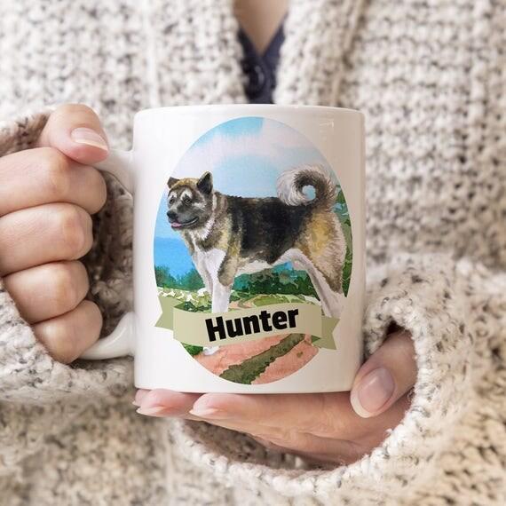 American Akita Custom Dog Mug - Get your dogs name on a mug - Dog Breed Mug - Great gift for dog owner - Akita mug