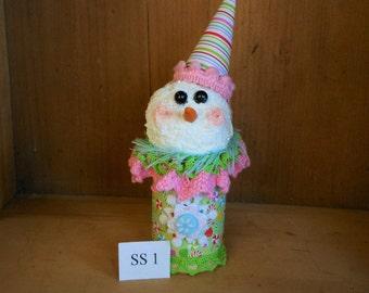 Snowman, Wooden Spool Snowman, Christmas Decor, Winter Decor, Holiday Decor