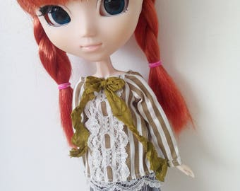 Mori blouse for pullip blythe azone momoko obitsu and similar dolls