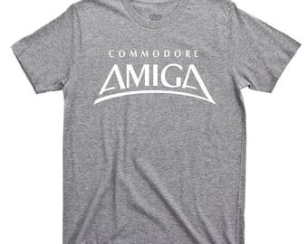 Amiga T Shirt Commodore 64 1000 2000 500 1500 2500 3000 3000UX 3000T CDTV 500+ 600 4000 1200 CD32 4000T Deluxe Paint Kickstart Cartridge Tee