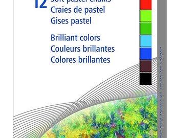 Staedtler Karat 2430 Soft Pastel Chalk - Assorted Colors- 12