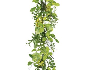 Foliage with Berries Garland 52""