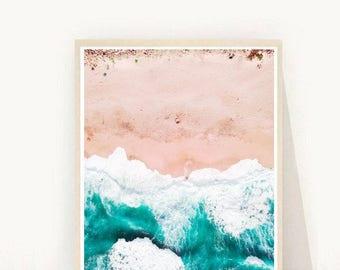 Beach Print, Waves Print, Beach Wall Art, Coastal Decor, Printable Art, Home Decor, Instant Download