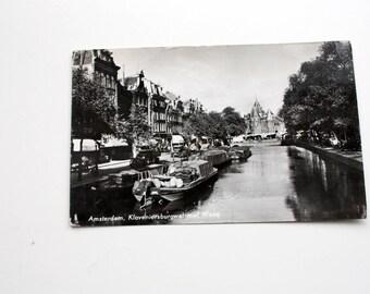 Amsterdam Postcard, Kloveniersburgwal Postcard, Waag Postcard, Van Leer's Fotodruking postcard,