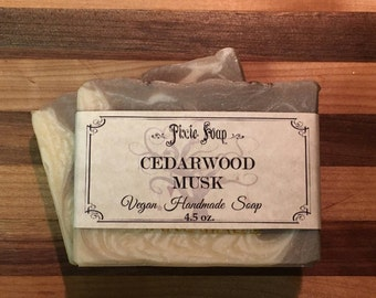 Cedarwood Musk-Handmade Vegan Soap