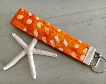 Orange Wristlet Keychain, Orange Keychain, Wristlet Keychain, Wristlet Key Fob, Gift for Her, Gift for Friend, Teacher Gift, Gift