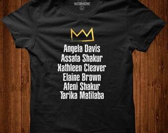 Famous Female Black Panther Members Tribute Tee  Black Girl Magic   Black History Month, Black Lives Matter, Black Pride, Black Empowerment