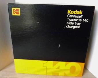 2 KODSK CAROUSEL TRANSVUE 140 photo slide trays