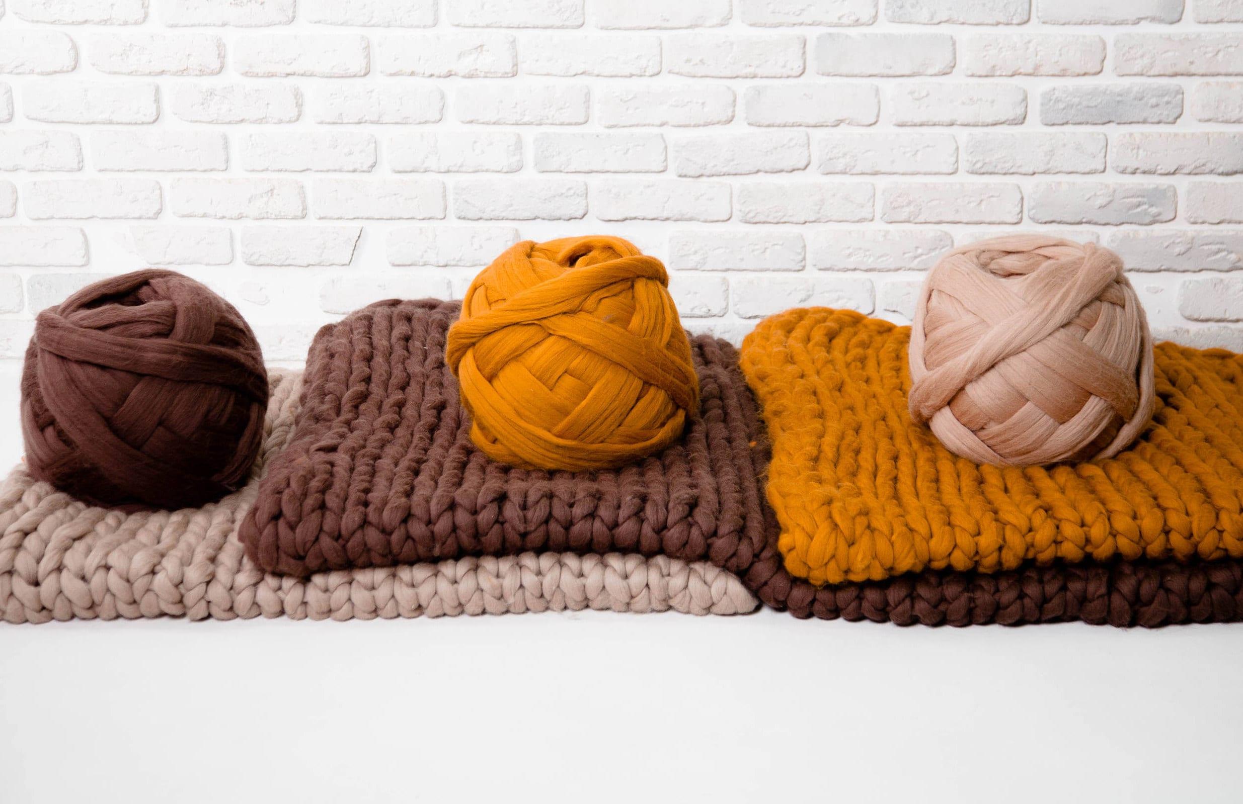 riesen wolle f r arm knitting bergro e garn mega sperriges. Black Bedroom Furniture Sets. Home Design Ideas