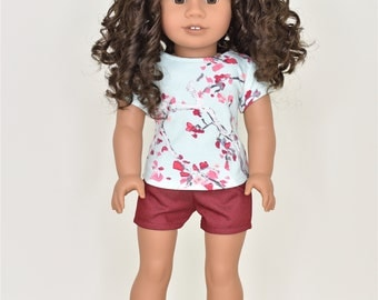 Basic Top 18 inch doll clothes Short Sleeve