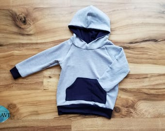 Aspen Pullover Blue Hoodie - 18 Months