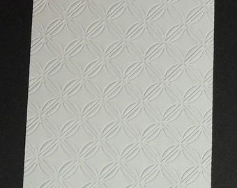 Embossed Cardstock Geometric Rings, Embossed Sheets, Embossed Card Fronts