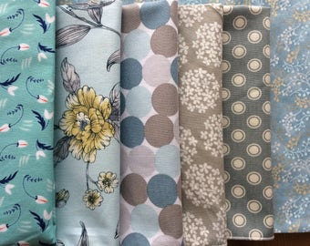 Blue, White, Gray Everyday Cloth Napkins, Set of 12 assorted