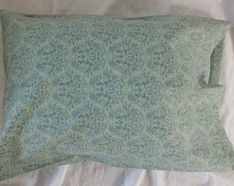 Travel Pillowcase in  100% Cotton Beautiful Soft/Muted Green 14 x 20