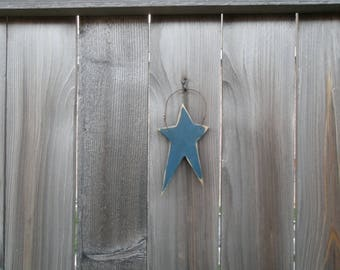 Blue Primitive Star Ornament