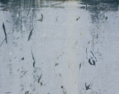 "Original image, Monotype ""ICELAKE"", sheet size din A4, motif size 15 x 20 cm, abstract landscape"