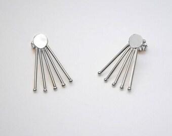 Small Stud Earrings Silver, Studs, Tiny stud earring, Post earrings, Cartilage earrings, One pair ear lobe earrings, Conch piercing