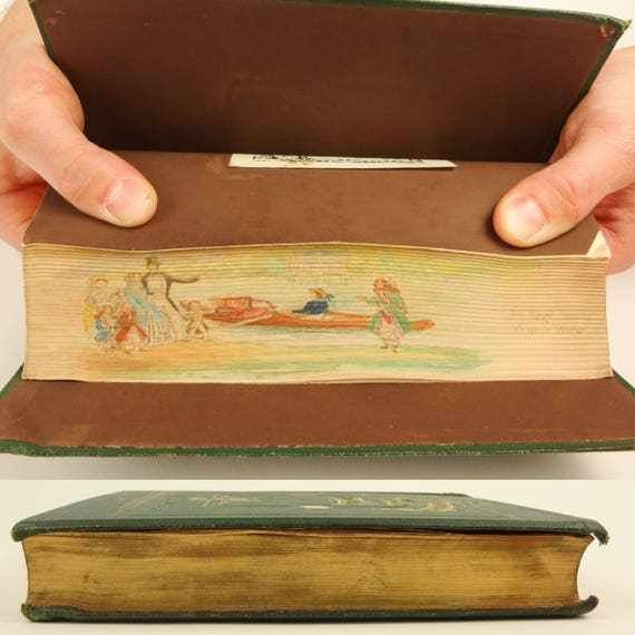 1870. Fore-edge painting of the Royal Family recreating. Historic Devices, Badges,War Cries by Mrs. Bury Palliser.