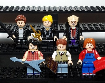 Buffy the Vampire Slayer Set of 6 Minifigures Buffy Spike Angel Willow Xander Giles Joss Whedon Building Toys (LEGO Compatible)
