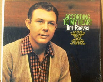 1960 vinyl lp Jim Reeves-According To My Heart, CAL583 in original shrink wrap FREE SHIPPING