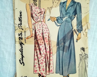 Vintage Sewing Pattern | Simplicity 2000 | Woman's Nightgown