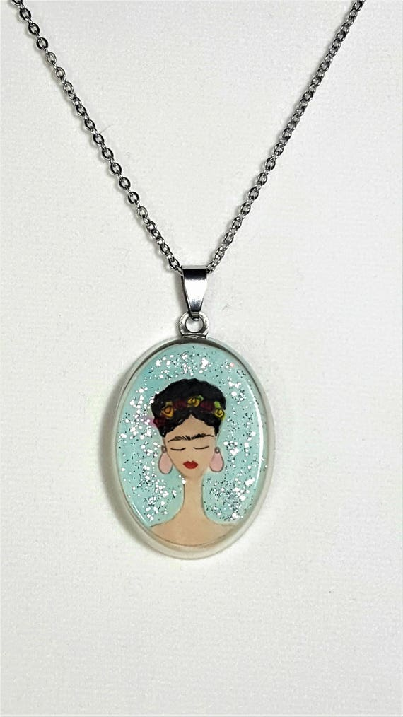 Frida Kahlo pendant (glitter collection)
