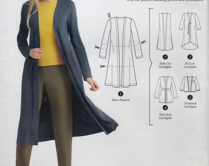 FREE US SHIP Simplicity 0659 8377 Sewing Pattern Hacking Easy Duster Jacket Coat Size 4/26 Bust 29 30 31 32 34 36 38 40 42 44 46 48  New