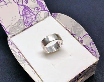 """17.6 mm ring silver plain engraved """"Markus"""" inside SR939"""